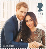 The Royal Wedding 1st Stamp (2018) Prince Harry and Ms Meghan Markle