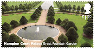 Hampton Court Palace £1.55 Stamp (2018) Hampton Court Palace – Great Fountain Garden