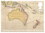 Captain Cook and Endeavour 1st Stamp (2018) Charting a new course: New Zealand and Australia
