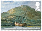 Captain Cook and Endeavour £1.45 Stamp (2018) Disaster avoided: repairs on the Endeavour River