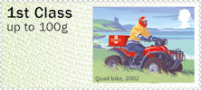 Post & Go : Royal Mail Heritage : Mail by Bike 1st Stamp (2018) Quad bike, 2002
