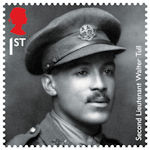 The First World War - 1918 1st Stamp (2018) Second Lieutenant Walter Tull