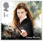 Harry Potter 1st Stamp (2018) Ginny Weasley