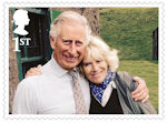 HRH The Prince of Wales : 70th Birthday 1st Stamp (2018) HRH The Prince of Wales and HRH The Duchess of Cornwall