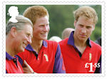 HRH The Prince of Wales : 70th Birthday £1.55 Stamp (2018) HRH The Prince of Wales and his sons at Cirencester Park Polo Club
