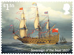 Royal Navy Ships £1.55 Stamp (2019) Sovereign of the Seas
