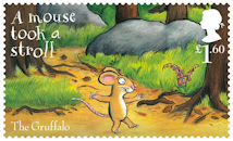 The Gruffalo £1.60 Stamp (2019) The Gruffalo – A mouse took a stroll