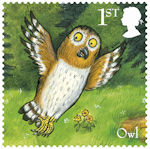 The Gruffalo 1st Stamp (2019) Owl