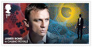James Bond 1st Stamp (2020) Casino Royale (2006)