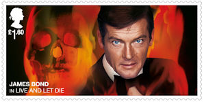 James Bond £1.60 Stamp (2020) Live And Let Die (1973)