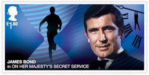 James Bond £1.60 Stamp (2020) On Her Majestys Secret Service (1969)