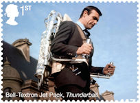 James Bond 1st Stamp (2020) Bell-Textron Jet Pack - Thunderball (1965)