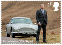 James Bond 1st Stamp (2020) Aston Martin DB5 - Skyfall (2012)