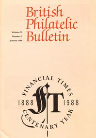 British Philatelic Bulletin Volume 25 Issue 5