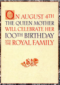 Queen Mother 100th Birthday