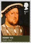 Kings and Queens (Tudors) 1st Stamp (2009) Henry VIII (1509-1547)