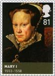 Kings and Queens (Tudors) 81p Stamp (2009) Mary (1553-1558)