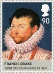 Kings and Queens (Tudors) 81p Stamp (2009) Francis Drake