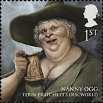 Magical Realms 1st Stamp (2011) Nanny Ogg
