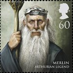 Magical Realms 60p Stamp (2011) Merlin