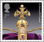 The Crown Jewels 1st Stamp (2011) St Edward's Crown