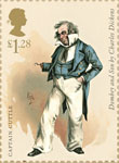 Charles Dickens £1.28 Stamp (2012) Captain Cuttle
