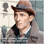 Great Britons 1st Stamp (2013) Peter Cushing (1913-1994)
