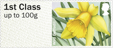 Post & Go: Spring Blooms - British Flora 1 1st Stamp (2014) Wild Daffodil