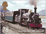 Classic Locomotives of Wales 78p Stamp (2014) Hunslet No. 589 Blanche
