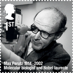 Remarkable Lives 1st Stamp (2014) Max Perutz