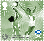 Glasgow 2014 Commonwealth Games £1.47 Stamp (2014) Netball