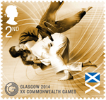 Glasgow 2014 Commonwealth Games 2nd Stamp (2014) Judo