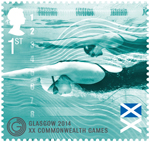 Glasgow 2014 Commonwealth Games 1st Stamp (2014) Swimming