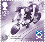 Glasgow 2014 Commonwealth Games £2.15 Stamp (2014) Track Cycling