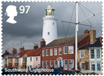 Seaside Architecture 97p Stamp (2014) Southwold Lighthouse