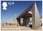Seaside Architecture £1.28 Stamp (2014) Bexhill-On-Sea Shelter