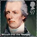 Prime Ministers 97p Stamp (2014) William Pitt The Younger