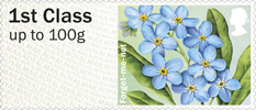 Post & Go: Symbolic Flowers - British Flora 2 1st Stamp (2014) Forget-Me-Not