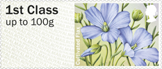 Post & Go: Symbolic Flowers - British Flora 2 1st Stamp (2014) Cultivated Flax