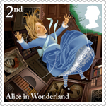 Alice in Wonderland 2nd Stamp (2015) Down The Rabbit Hole