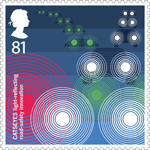 Inventive Britain 81p Stamp (2015) Catseyes