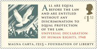 Magna Carta £1.52 Stamp (2015) Universal Declaration of Human Rights, 1948