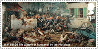 The Battle of Waterloo £1.52 Stamp (2015) Waterloo - The capture of Plancenoit by the Prussians