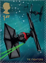 Star Wars 1st Stamp (2015) First Order Special Forces Tie Fighters