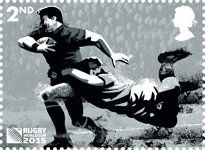 Rugby World Cup 2nd Stamp (2015) Tackle