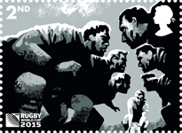 Rugby World Cup 2nd Stamp (2015) Scrum