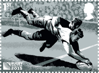 Rugby World Cup 1st Stamp (2015) Try