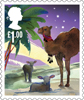Christmas 2015 £1.00 Stamp (2015) The animals of the Nativity