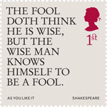 Shakespeare 1st Stamp (2016) As You Like It (1599) Act 5, Scene 1