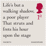 Shakespeare 1st Stamp (2016) Macbeth (1606) Act 5, Scene 5